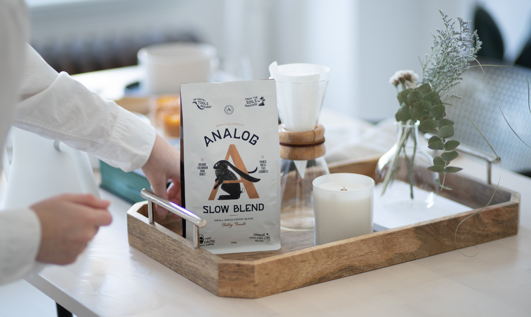 Analog Wins Applied Arts Packaging Design Award For Our Slow Blend Organic Coffee.