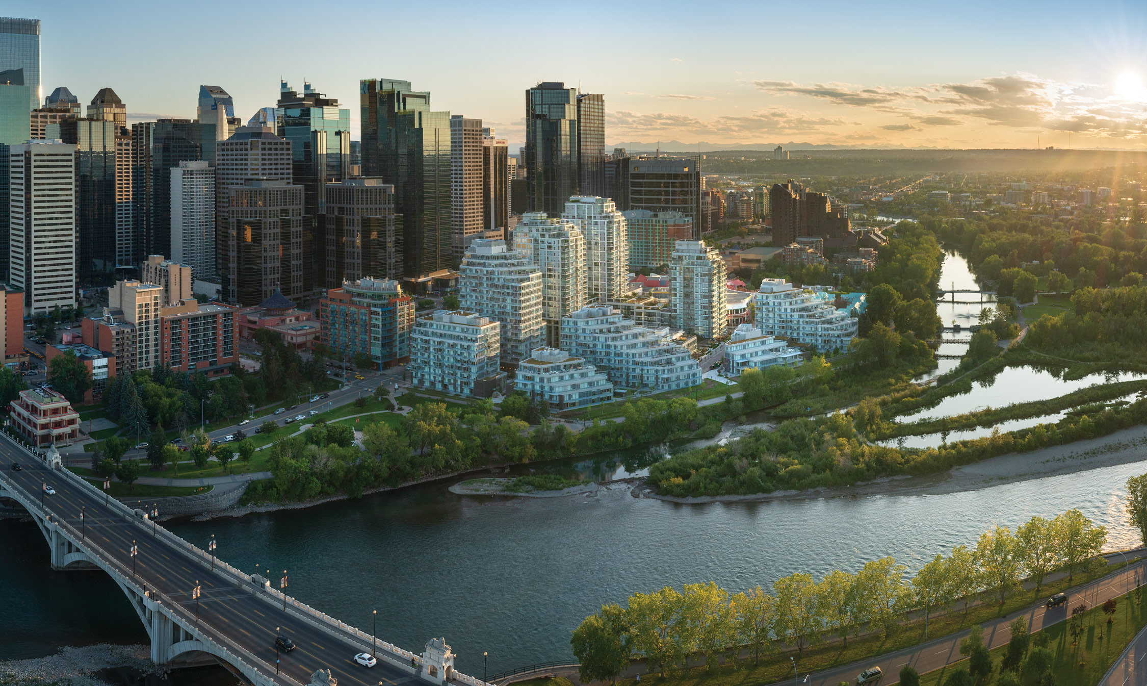A Grand Finale of Refined Residences Come to Life on the Water's Edge of Calgary.